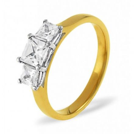 18K Gold 0.50ct H/si Diamond Ring, DR03-50HSY